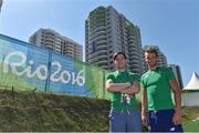 1 August 2016; Rowers Paul O'Donovan, left, and his brother Gary O'Donovan of Ireland relax in the Olympic Village ahead of the start of the 2016 Rio Summer Olympic Games in Rio de Janeiro, Brazil. Photo by Brendan Moran/Sportsfile