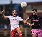 1 August 2016; Billy Dennehy of St. Patrick's Athletic in action against Shane Dunne of Wexford Youths during the SSE Airtricity League Premier Division match between Wexford Youths and St. Patrick's Athletic at Ferrycarrig Park in Wexford. Photo by David Maher/Sportsfile