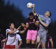 1 August 2016; Wexford Youths goalkeeper Graham Doyle in action against Billy Dennehy of St. Patrick's Athletic during the SSE Airtricity League Premier Division match between Wexford Youths and St. Patrick's Athletic at Ferrycarrig Park in Wexford. Photo by David Maher/Sportsfile