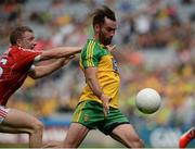 30 July 2016; Karl Lacey of Donegal in action against Michael Hurley of Cork during the GAA Football All-Ireland Senior Championship Round 4B match between Donegal and Cork at Croke Park in Dublin. Photo by Oliver McVeigh/Sportsfile