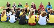 02 August 2016; Players Evelyn Daly, Cork City Women's FC, Rachel Doyle, Peamount United, Kylie Murphy, Wexford Youths Women's FC, Aine O'Gorman, UCD Waves FC, Pearl Slattery, Shelbourne Ladies FC, Meabh De Burca, Galway WFC and Aislinn Carroll, Kilkenny United WFC in attendance during the launch of the Continental Tyres Women's National League at FAI HQ in Abbotstown, Dublin. The 2016 season will kick off this Saturday, August 6th and will run until December 2016. Follow all the action at @FAI_WNL or #WNL. Photo by David Maher/Sportsfile