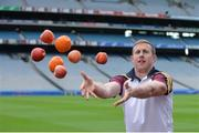 "3 August 2016; Galway footballer Gary Sice pictured at the launch of the 2016 GAA Health & Wellbeing Theme Day, ""Little things can improve your game"" taking place on August 28th in Croke Park. Croke Park, Dublin. Photo by Piaras Ó Mídheach/Sportsfile"