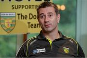 3 August 2016; Donegal manager Rory Gallagher during a press conference at the Abbey Hotel, Donegal Town. Photo by Oliver McVeigh/Sportsfile