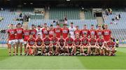 30 July 2016; The Cork squad before the Electric Ireland GAA Football All-Ireland Minor Championship Quarter-Final match between Donegal and Cork at Croke Park in Dublin. Photo by Oliver McVeigh/Sportsfile