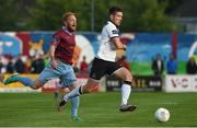 5 August 2016; Patrick McEleney of Dundalk in action against Ryan Connolly of Galway United during the SSE Airtricity League Premier Division match between Galway United and Dundalk at Eamonn Deasy Park in Galway. Photo by David Maher/Sportsfile