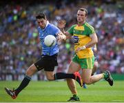 6 August 2016; Bernard Brogan of Dublin in action against Neil McGee of Donegal during the GAA Football All-Ireland Senior Championship Quarter-Final match between Dublin and Donegal at Croke Park in Dublin. Photo by Ray McManus/Sportsfile