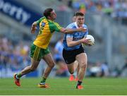 6 August 2016; John Small of Dublin  in action against Karl Lacey of Donegal  during the GAA Football All-Ireland Senior Championship Quarter-Final match between Dublin and Donegal at Croke Park in Dublin. Photo by Eóin Noonan/Sportsfile