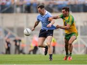 6 August 2016; Philly McMahon of Dublin in action against Karl Lacey of Donegal during the GAA Football All-Ireland Senior Championship Quarter-Final match between Dublin and Donegal at Croke Park in Dublin. Photo by Piaras Ó Mídheach/Sportsfile
