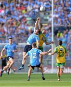 6 August 2016; Paul Flynn of Dublin  in action against Karl Lacey of Donegal  during the GAA Football All-Ireland Senior Championship Quarter-Final match between Dublin and Donegal at Croke Park in Dublin. Photo by Eóin Noonan/Sportsfile