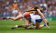 7 August 2016; Tadhg de Búrca of Waterford retains possession of the sliothar as he is tackled by Conor Fogarty of Kilkenny during the GAA Hurling All-Ireland Senior Championship Semi-Final match between Kilkenny and Waterford at Croke Park in Dublin. Photo by Ray McManus/Sportsfile