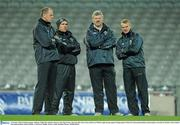 14 October 2010; Ireland manager Anthony Tohill, left, with his selectors, Sean Og de Paor, 2nd from left, Eoin Liston and Kevin O'Brien, right, during squad training ahead of their first International Rules match against Australia on October 23rd. Ireland International Rules squad training, Croke Park, Dublin. Picture credit: Brendan Moran / SPORTSFILE