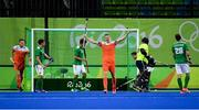 7 August 2016; Mirco Pruijser of Netherlands celebrates scoring his side's fourth goal during their Pool B match against Ireland at the Olympic Hockey Centre, Deodoro, during the 2016 Rio Summer Olympic Games in Rio de Janeiro, Brazil. Picture by Brendan Moran/Sportsfile