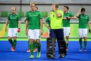 7 August 2016; Ireland players including Conor Harte, second from left, and brother David Harte leave the pitch after their Pool B match at the Olympic Hockey Centre, Deodoro, during the 2016 Rio Summer Olympic Games in Rio de Janeiro, Brazil. Picture by Brendan Moran/Sportsfile