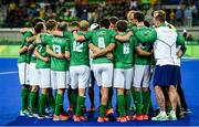 7 August 2016; The Ireland team after defeat to the Netherlands in their Pool B match at the Olympic Hockey Centre, Deodoro, during the 2016 Rio Summer Olympic Games in Rio de Janeiro, Brazil. Photo by Brendan Moran/Sportsfile