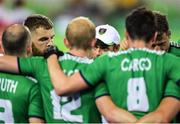 7 August 2016; Ireland coach Craig Fulton speaks to his players after their Pool B match against the Netherlands at the Olympic Hockey Centre, Deodoro, during the 2016 Rio Summer Olympic Games in Rio de Janeiro, Brazil. Photo by Brendan Moran/Sportsfile
