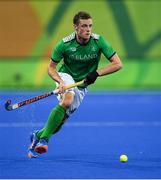 7 August 2016; Jonathan Bell of Ireland during their Pool B match against the Netherlands at the Olympic Hockey Centre, Deodoro, during the 2016 Rio Summer Olympic Games in Rio de Janeiro, Brazil. Photo by Brendan Moran/Sportsfile
