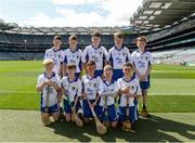 7 August 2016; The Waterford team, back row, left to right, Luke Carey, Seir Kieran's NS, Birr, Offaly, Gavin Lee, Scoil Mhuire, Clarinbridge, Galway, Damian Murphy, Kilcoskan NS, The Ward, Dublin, Michael Young, St. Mary's BNS, Lucan, Dublin, Aidan Marren, Castlerock NS, Aclare, Sligo, front row, left to right, Aidan Byrne, St. Cronan's NS, Banagher, Offaly, Jack Leahy, St. Peters NS, Dungourney, Cork, Daniel Mackey, Ballygarvan NS, Ballygarvan, Cork, Shane Sarsfield, Scoil Íosagáin Buncrana, Donegal, Seán O'Donnell, St. Patrick's, Carndonagh, Donegal, ahead of the INTO Cumann na mBunscol GAA Respect Exhibition Go Games at the Kilkenny v Waterford GAA Hurling All-Ireland Senior Championship Semi-Final at Croke Park in Dublin. Photo by Daire Brennan/Sportsfile