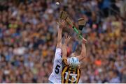 7 August 2016; Tadhg de Búrca of Waterford contests possession with Jonjo Farrell of Kilkenny during the GAA Hurling All-Ireland Senior Championship Semi-Final match between Kilkenny and Waterford at Croke Park in Dublin. Photo by Piaras Ó Mídheach/Sportsfile