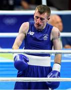 8 August 2016; Paddy Barnes of Ireland following the second round during his Light-Flyweight preliminary round of 32 bout against Samuel Carmona Heredia of Spain in the Riocentro Pavillion 6 Arena during the 2016 Rio Summer Olympic Games in Rio de Janeiro, Brazil. Photo by Stephen McCarthy/Sportsfile