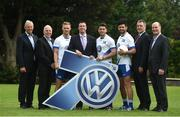 9 August 2016; Dublin GAA and Kilmacud Crokes stars Paul Mannion and Cian O'Sullivan, along with Dublin team-mate and Volkswagen Ambassador Bernard Brogan were joined by former Dublin player Ray Cosgrove and former Westmeath, Galway, and Laois manager Tomás Ó Flatharta in Glenalbyn, Kilmacud Crokes today to officially announce Volkswagen's sponsorship of the Kilmacud Crokes All-Ireland GAA football Sevens. In attendance are, from left, Tomás Ó Flatharta, Head of Marketing of Volkswagen Ireland Paul O'Sullivan, Paul Mannion, Ray Cosgrove, Bernard Brogan, Cian O'Sullivan, Chairman of Kilmacud Crokes Kevin Foley, and Kilmacud Crokes Commercial Officer Michael Durcan, during the announcement at Glenalbyn House in Stillorgan, Co. Dublin. Photo by Daire Brennan/Sportsfile