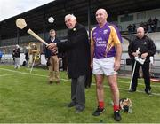 9 August 2016; Ronnie Delany, winner of the gold medal in the 1500m in the 1956 Olympic Games in Melbourne, Australia, with former Kilkenny player DJ Carey  during the fifth annual Hurling for Cancer Research, a celebrity hurling match in aid of the Irish Cancer Society in St Conleth's Park, Newbridge. Ireland's top GAA and horseracing stars lined out for the game, organised by horseracing trainer Jim Bolger and National Hunt jockey Davy Russell. To date the event has raised €400,000 for the Irish Cancer Society, the leading voluntary funder of cancer research in Ireland. St Conleth's Park, Newbridge, Kildare. Photo by David Maher/Sportsfile