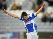 24 October 2010; Craig Rogers, Portlaoise, celebrates after scoring his side's second goal. AIB GAA Football Leinster Club Senior Championship Quarter-Final, Moorefield v Portlaoise, O'Moore Park, Portlaoise, Co. Laois. Picture credit: Stephen McCarthy / SPORTSFILE