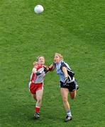 26 September 2010; Maria Kavanagh, Dublin, in action against Catriona McGahan, Tyrone. TG4 All-Ireland Senior Ladies Football Championship Final, Dublin v Tyrone, Croke Park, Dublin. Picture credit: Brendan Moran / SPORTSFILE