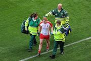 26 September 2010; Sarah Connolly, Tyrone, leaves the pitch with an injury during the first half. TG4 All-Ireland Senior Ladies Football Championship Final, Dublin v Tyrone, Croke Park, Dublin. Picture credit: Brendan Moran / SPORTSFILE