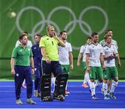 12 August 2016; Ireland players following defeat after the Pool B match between Ireland and Argentina at the Olympic Hockey Centre, Deodoro, during the 2016 Rio Summer Olympic Games in Rio de Janeiro, Brazil. Photo by Stephen McCarthy/Sportsfile