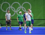 12 August 2016; Conor Harte of Ireland following defeat after the Pool B match between Ireland and Argentina at the Olympic Hockey Centre, Deodoro, during the 2016 Rio Summer Olympic Games in Rio de Janeiro, Brazil. Photo by Stephen McCarthy/Sportsfile