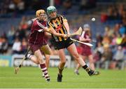 13 August 2016; Miriam Walsh Of Kilkenny in action against Sarah Dervan of Galway during the Liberty Insurance Senior Camogie Championship Semi-Final game between Galway and Kilkenny at Semple Stadium in Thurles, Co Tipperary. Photo by Ray McManus/Sportsfile