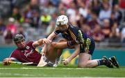 14 August 2016; Jack Canning of Galway in action against Ciarán Barrett of Tipperary during the Electric Ireland GAA Hurling All-Ireland Minor Championship Semi-Final game between Galway and Tipperary at Croke Park, Dublin. Photo by Ray McManus/Sportsfile