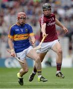14 August 2016; Jack Canning of Galway in action against Cian Flanagan during the Electric Ireland GAA Hurling All-Ireland Minor Championship Semi-Final game between Galway and Tipperary at Croke Park, Dublin. Photo by Piaras Ó Mídheach/Sportsfile