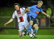 1 November 2010; Shane Keely, Bohemians, in action against Keith Ward, UCD. Newstalk A Championship Final, UCD v Bohemians, Belfield Bowl, UCD, Dublin. Picture credit: David Maher / SPORTSFILE