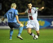 1 November 2010; Anto Corcoran, Bohemians, in action against Chris Mulhall, UCD. Newstalk A Championship Final, UCD v Bohemians, Belfield Bowl, UCD, Dublin. Picture credit: David Maher / SPORTSFILE