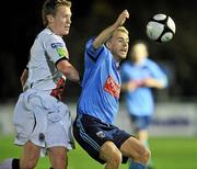 1 November 2010; Keith Ward, UCD, in action against Mark O'Reilly, Bohemians. Newstalk A Championship Final, UCD v Bohemians, Belfield Bowl, UCD, Dublin. Picture credit: David Maher / SPORTSFILE