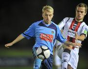 1 November 2010; Keith Ward, UCD, in action against Stephen Chambers, Bohemians. Newstalk A Championship Final, UCD v Bohemians, Belfield Bowl, UCD, Dublin. Picture credit: David Maher / SPORTSFILE