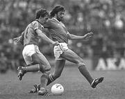 10 September 1980; Republic of Ireland's Mark Lawrenson, right, in action against Holland. Republic of Ireland v Holand, World Cup Qualifier, Lansdowne Road, Dublin. Soccer. Picture credit; Ray McManus / SPORTSFILE