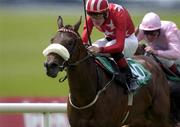 14 July 2001; Steaming Home with Pat Smullen up on the way to winning The Star Racegoers Club European Breeders Fund Fillies Maiden of £16,000, The Curragh, Horse Racing. Picture credit; Damien Eagers / SPORTSFILE *EDI*