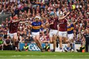 14 August 2016; Ronan Maher of Tipperary in action against Conor Cooney, 10, and Conor Whelan of Galway during the GAA Hurling All-Ireland Senior Championship Semi-Final game between Galway and Tipperary at Croke Park, Dublin. Photo by Ray McManus/Sportsfile