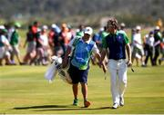 14 August 2016; Seamus Power, right, and caddy John Rathouz walk up the 18th fairway during the final round of the Men's Strokeplay competition at the Olympic Golf Course, Barra de Tijuca, during the 2016 Rio Summer Olympic Games in Rio de Janeiro, Brazil. Photo by Ramsey Cardy/Sportsfile