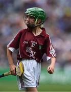 14 August 2016; Clodagh Landers, Bunscoil Bhothar na Naomh, Lismore, Waterford, representing Galway, during the INTO Cumann na mBunscol GAA Respect Exhibition Go Games at the GAA Hurling All-Ireland Senior Championship Semi-Final game between Galway and Tipperary at Croke Park, Dublin. Photo by David Maher/Sportsfile