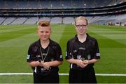 14 August 2016; Referees Oisín McNicholl, from Dungiven, Derry, and Conla Bradley, from Greenlough, Derry, ahead of the INTO Cumann na mBunscol GAA Respect Exhibition Go Games at the GAA Hurling All-Ireland Senior Championship Semi-Final game between Galway and Tipperary at Croke Park, Dublin. Photo by Piaras Ó Mídheach/Sportsfile