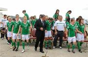 16 September 2010; Republic of Ireland players and staff after their squad photo. Republic of Ireland at the FIFA U-17 Women's World Cup - Squad Photos, Hilton Trinidad, Lady Young Road, Port of Spain, Trinidad, Trinidad & Tobago. Picture credit: Stephen McCarthy / SPORTSFILE