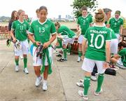 16 September 2010; Republic of Ireland's Rianna Jarrett after their squad photo. Republic of Ireland at the FIFA U-17 Women's World Cup - Squad Photos, Hilton Trinidad, Lady Young Road, Port of Spain, Trinidad, Trinidad & Tobago. Picture credit: Stephen McCarthy / SPORTSFILE