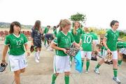 16 September 2010; Republic of Ireland players, from left, Stacie Donnelly, Siobhan Kileen and Jennifer Byrne after their squad photo. Republic of Ireland at the FIFA U-17 Women's World Cup - Squad Photos, Hilton Trinidad, Lady Young Road, Port of Spain, Trinidad, Trinidad & Tobago. Picture credit: Stephen McCarthy / SPORTSFILE