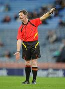 30 October 2010; Referee Tony Carroll, Offaly. Senior Hurling / Shinty International 1st Test, Ireland v Scotland, Croke Park, Dublin. Picture credit:  Stephen McCarthy / SPORTSFILE