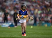 14 August 2016; Rhianne McGuinness, St Columban's PS, Belcoo, Co Fermanagh, representing Tipperary, during the INTO Cumann na mBunscol GAA Respect Exhibition Go Games at the GAA Hurling All-Ireland Senior Championship Semi-Final game between Galway and Tipperary at Croke Park, Dublin. Photo by Ray McManus/Sportsfile