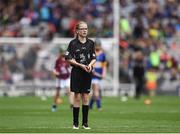 14 August 2016; Referee Conla Bradley, St Mary's PS, Portglenone, Co Derry, during the INTO Cumann na mBunscol GAA Respect Exhibition Go Games at the GAA Hurling All-Ireland Senior Championship Semi-Final game between Galway and Tipperary at Croke Park, Dublin. Photo by Ray McManus/Sportsfile