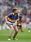 14 August 2016; Emma Byrne, Scoil Bhríde, Cannistown, Co Meath, representing Tipperary, during the INTO Cumann na mBunscol GAA Respect Exhibition Go Games at the GAA Hurling All-Ireland Senior Championship Semi-Final game between Galway and Tipperary at Croke Park, Dublin. Photo by Ray McManus/Sportsfile